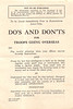 1942 Do's and Don't for Troops Going Overseas - Canadian army World War Two