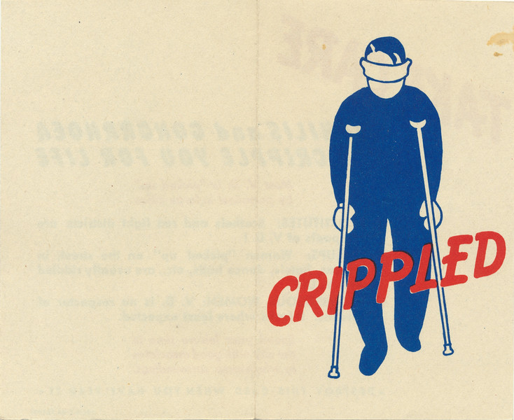 "World War II Canadian Army booklet ""Crippled"" about syphilis and gonorrhoea. ""Destroy this card when you have read it"""