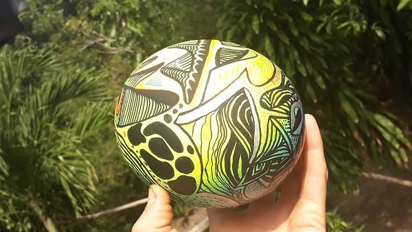 Karma=painted Giant Ostridge Egg