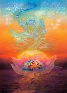Language degenerates as man degenerates. Chaste language is re-found when man starts the re-ascent to the spirit.