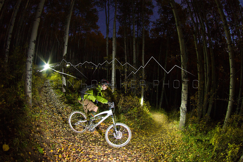 Kurt Olesek riding Beaver Creek, CO at night