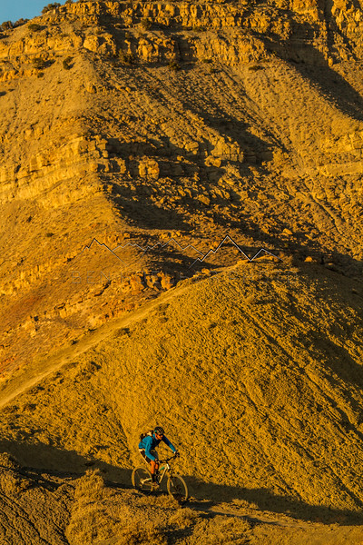 Jay riding the Golden Hour, Fruita, CO