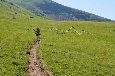 Jennie Thorne near Kokomo Pass, Colorado Trail, CO