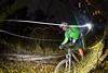 Tracey Head biking at Beaver Creek, CO at night
