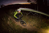 Jeannine Anders night-riding Beaver Creek, CO