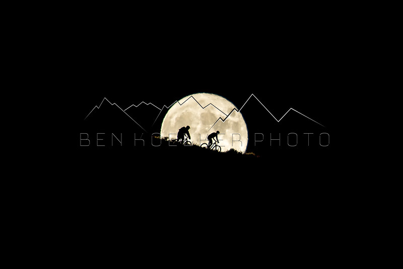 Wookie and Jake Wells riding the Supermoon, Avon, CO