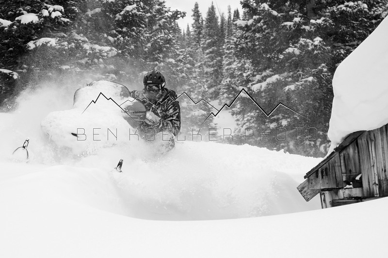 """Thunder"" Dan Peirce slednecking in the Sawatch Range, CO"