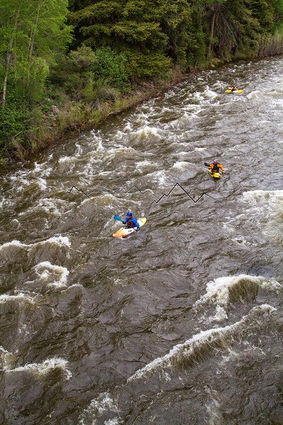 Kayaking the Eagle River, CO