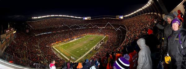 Baltimore Ravens at the Denver Broncos