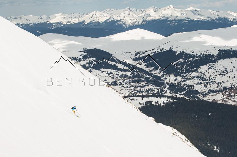 Jay Vestich skiing 13,841' Atlantic Peak