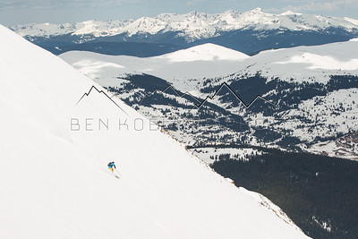 Jay Vestich skiing 13,841' Atlantic Peak