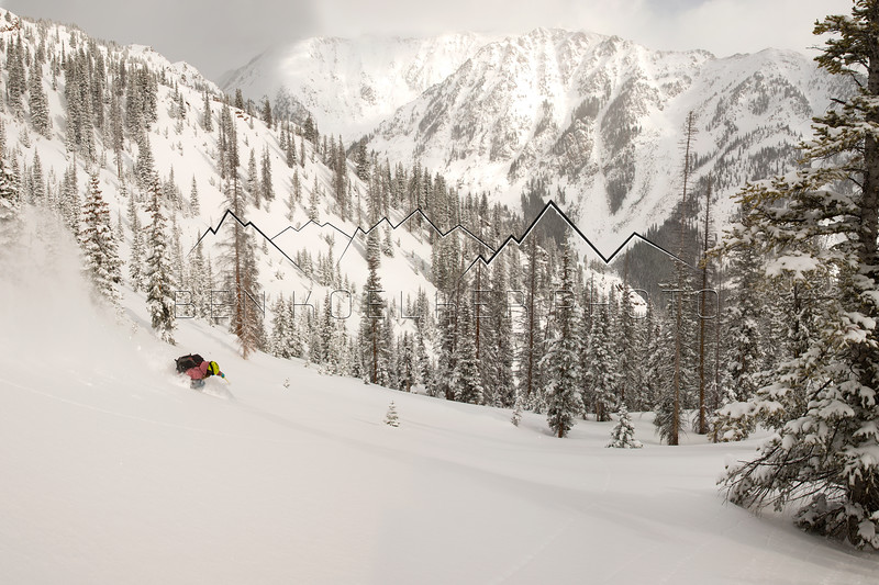 2009 Freeskiing World Tour Champion Rebecca Selig riding in our backyard in the Gore Range, CO 1/20/15