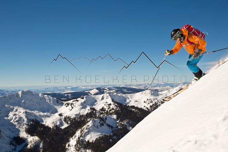 Gary Fondl skiing Outpost Peak, CO 1/27/15