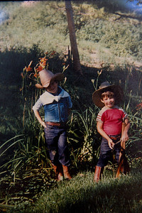 Myself and my brother Mark, Wishing we were Cowboys