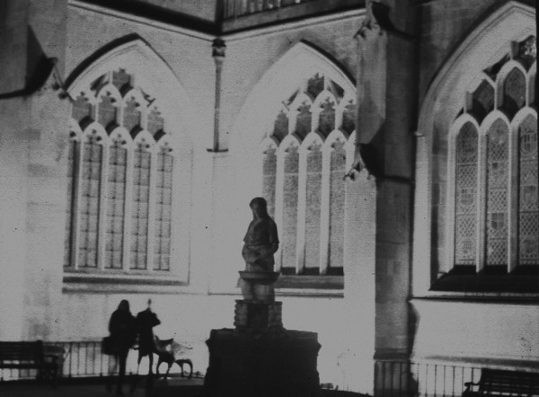 Fountain, Bath Abbey. Image derived from bad scan of a negative - haven't made a proper print yet.