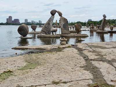 photowagon: Remic Rapids, Ottawa River, John Felice Ceprano rock sculptures 10.08.19