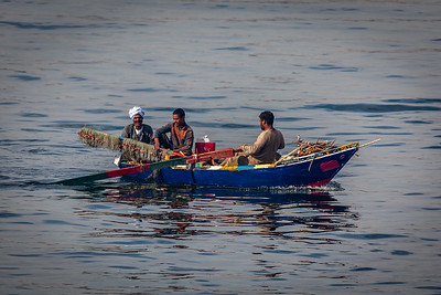 Egyptian fishermen at work