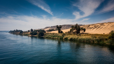 Along the Nile river