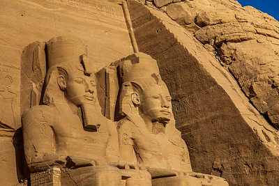 Statues at Abou Simbel temple