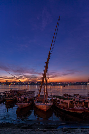 Felucca at sunrise