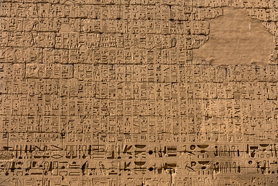 Wall covered of hieroglyph