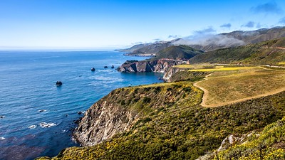 Along the coastline in California