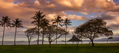 Sunset on the windward coast