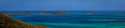 Tobago Cays Panorama from Mayereau