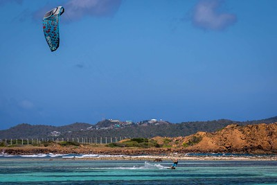 Kite surfer at Union Island