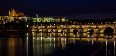 St Charles bridge at night