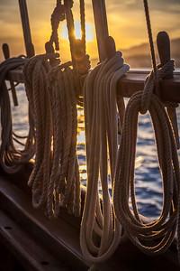 Ropes at sunset