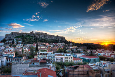 Acropolis Sunset || Athens Greece