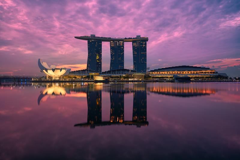 Reflections of Marina Bay || Singapore