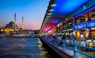Beyond Galata Bridge    Istanbul Turkey