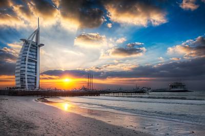 Burj Al Arab Sunset From Jumeirah Beach || Dubai UAE