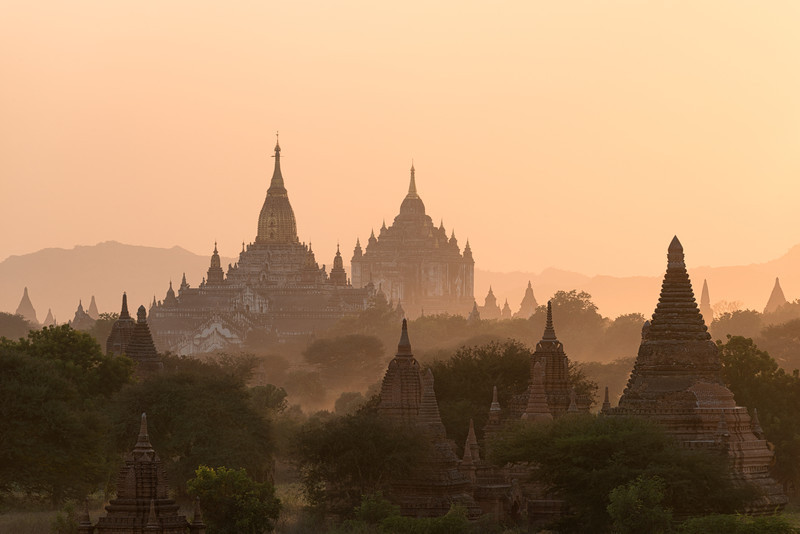 Temples In The Distance || Bagan Myanmar