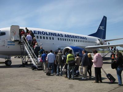 Flight to El Calafate
