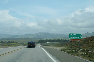 Driving along the California State Route 1