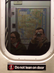 New York. In the train