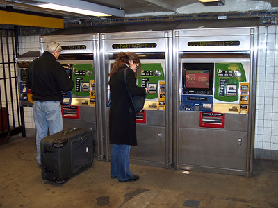 New York. Getting a MetroCard