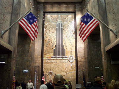 New York. Empire State building, main hall