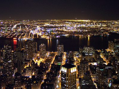 New York. Views from Empire State: East