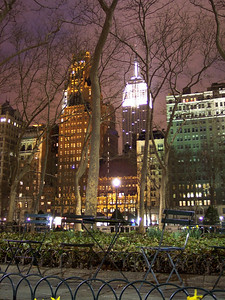 New York. Bryant park, Empire State