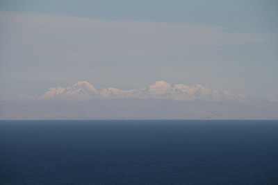 Lake Titicaca. Bolivian Andes, seen from Amantaní