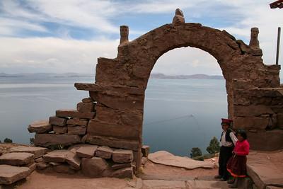 Lake Titicaca. Taquile island
