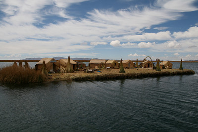 Lake Titicaca. The Uros, living on floating islands