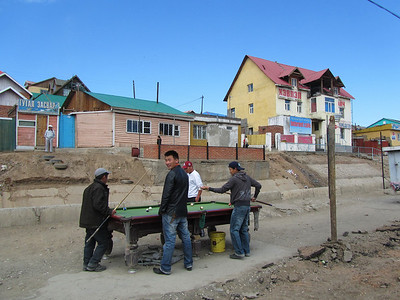 Billiard in the streets of Ulan Bator