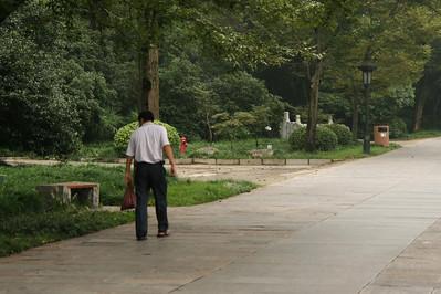 Walking backwards, Ming Xiaoling Mausoleum, Nanjing