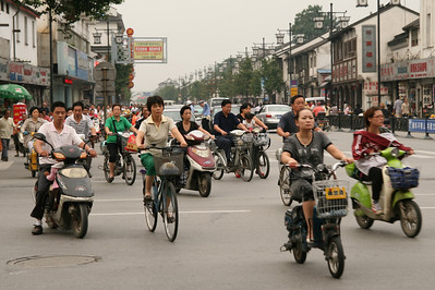 Bicycle with or without motor, anything goes. Suzhou
