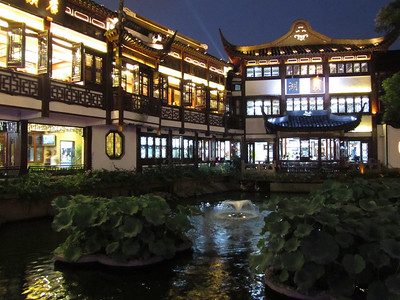 Chenghuang Miao area in the Old City of Shanghai